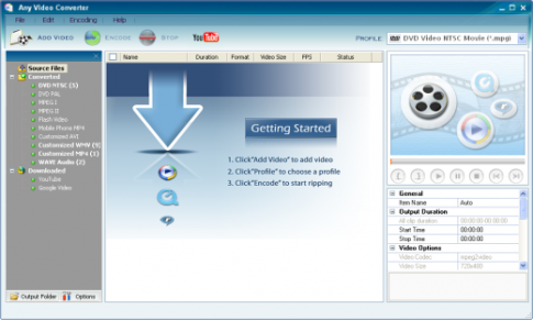Below mentioned are some key features of this Free Video Converter.