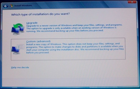 Updating vista to windows 7 problems
