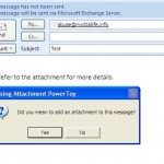 Get Reminded About Attachments By Missing Attachment Powertoy On Outlook 2007