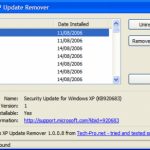 Remove And Uninstall Updates Using The Windows XP Update Remover