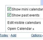 Adding A Mini Calendar Gadget In Gmail