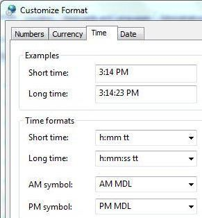 how to change system clock