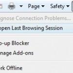 Simple Method To Restore Last Browsing Session In Internet Explorer 8