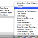 View Alexa Rank and Google PageRank Using Search Status