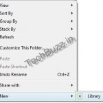 Windows 7 – Create And Add New Libraries