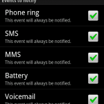 Android Notifier, A Very Useful Application To Make You Free From The Worry Of Missing Any Calls Or SMS.