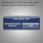Add Speed Dial Icon on iPhone Screen