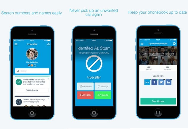 TrueCaller Caller ID feature on iPhone
