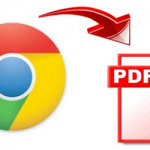 Save webpage to PDF in Google Chrome